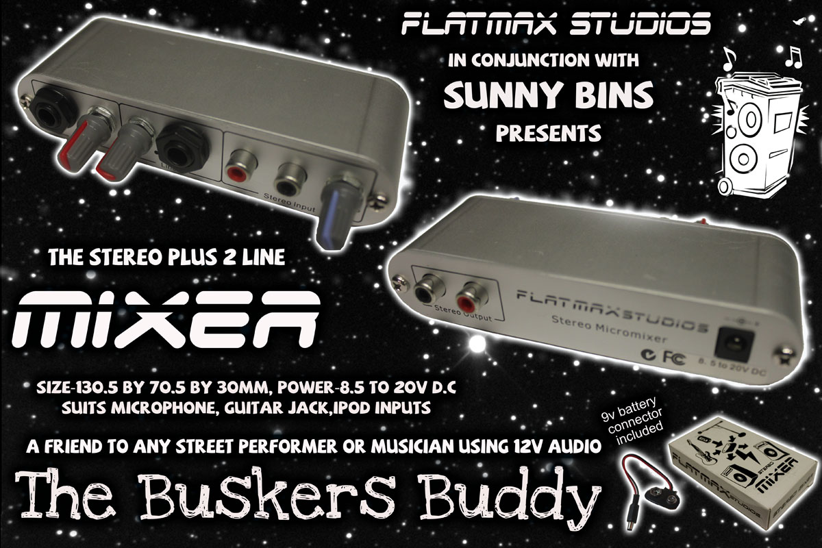 flatmax studios - stereo panned mixer