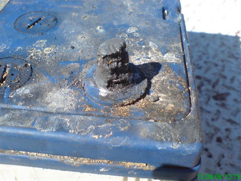 how to fix a melted battery post