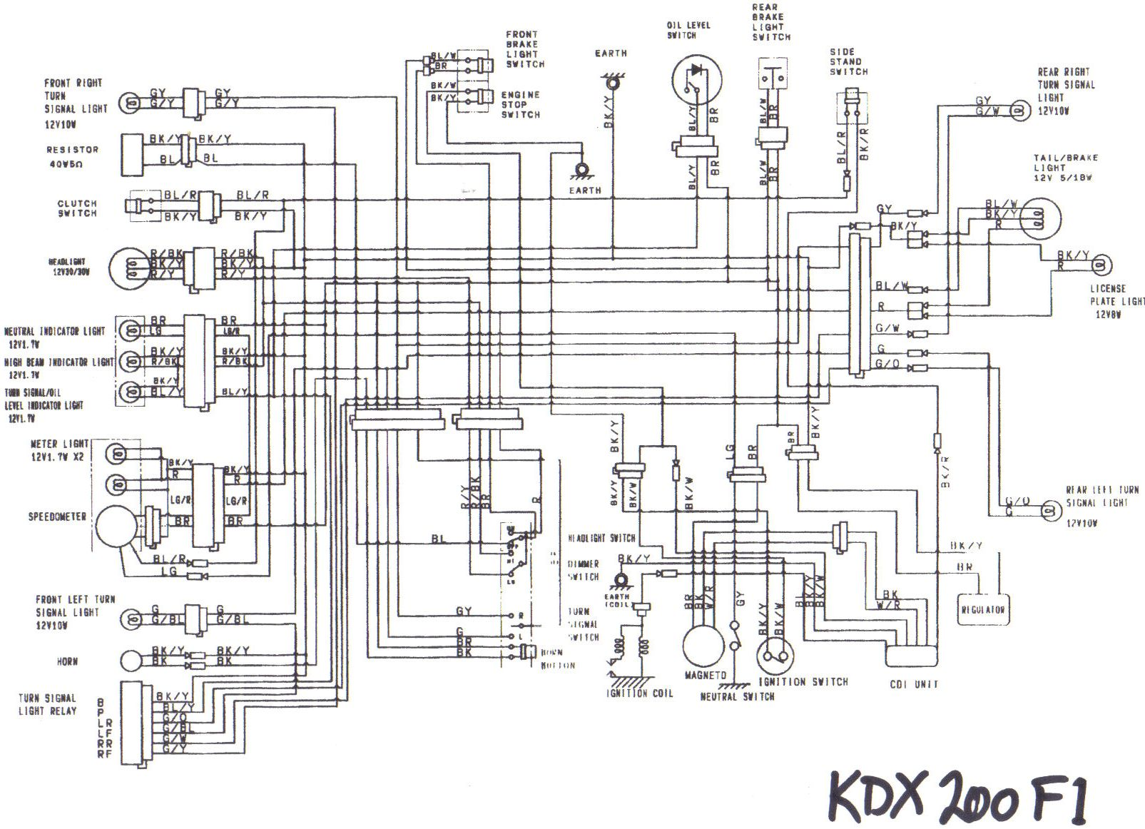 Require Wiring Diagram 91 Kdx 200 - Dbw