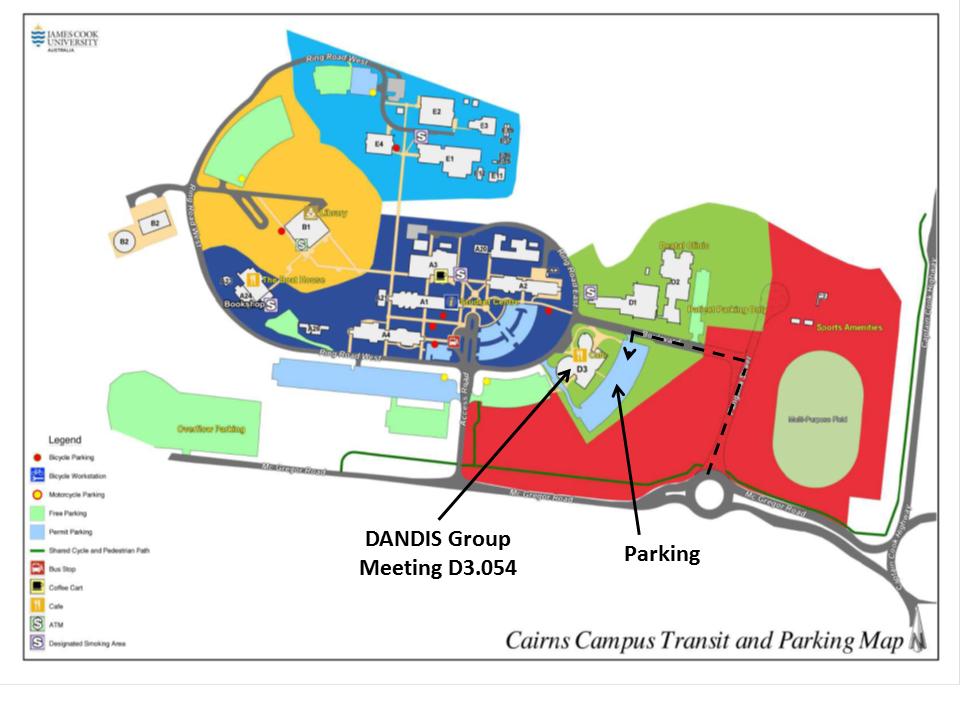 JCU Campus map
